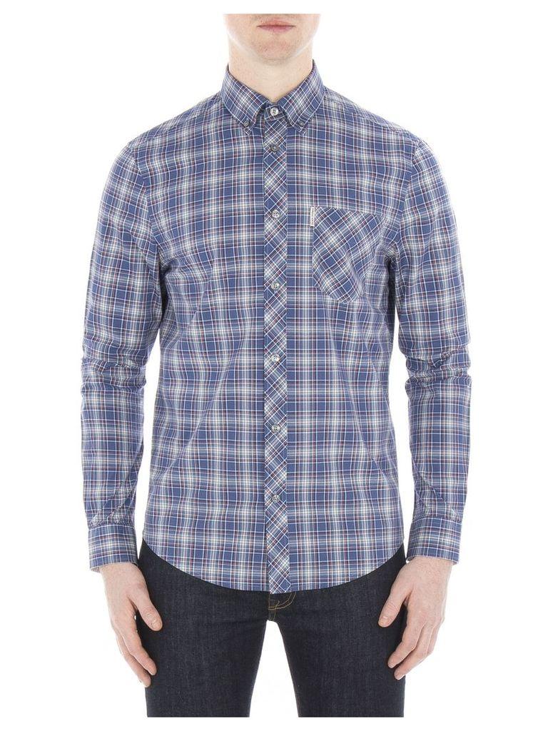 Long Sleeve Tartan Shirt Lge P11 Pigment Blue