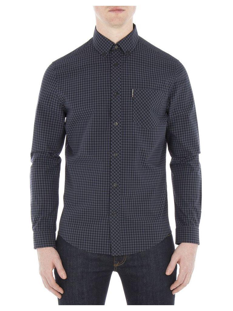 Long Sleeve Core Gingham Shirt XS C97 Phantom