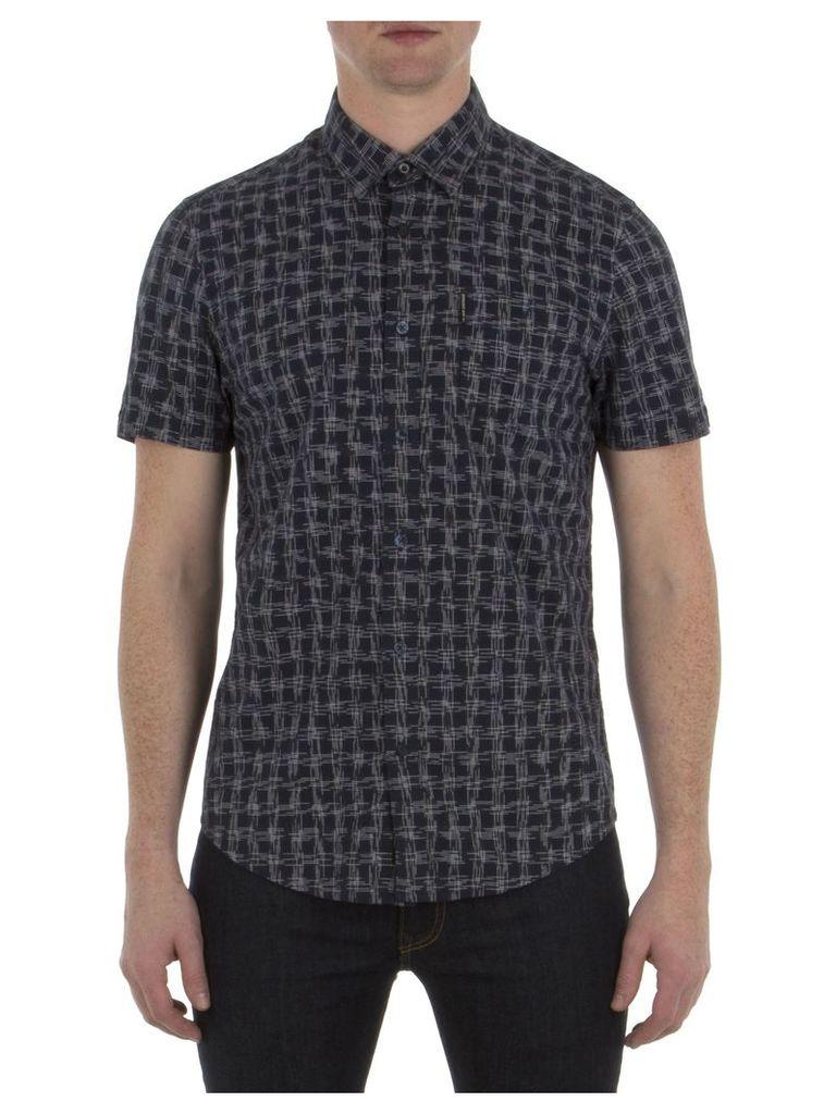 Short Sleeve Spacedye Slub Shirt XXS B51 Navy Blazer