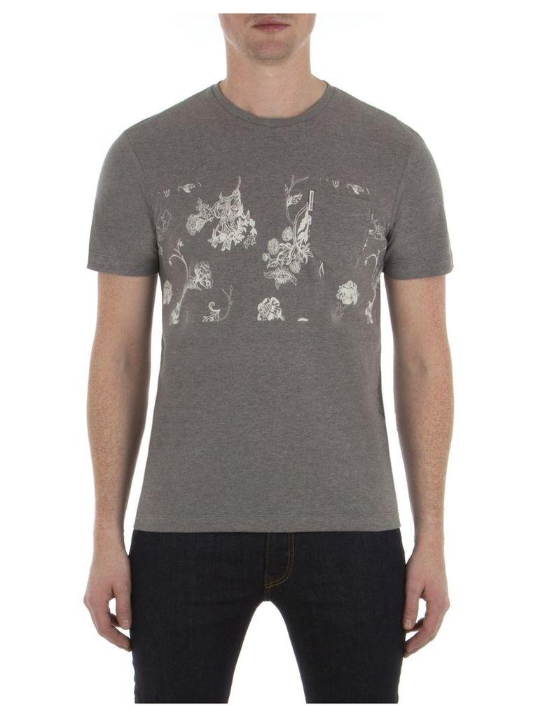 Pique Floral Print T-Shirt XXS M31 Heritage Grey