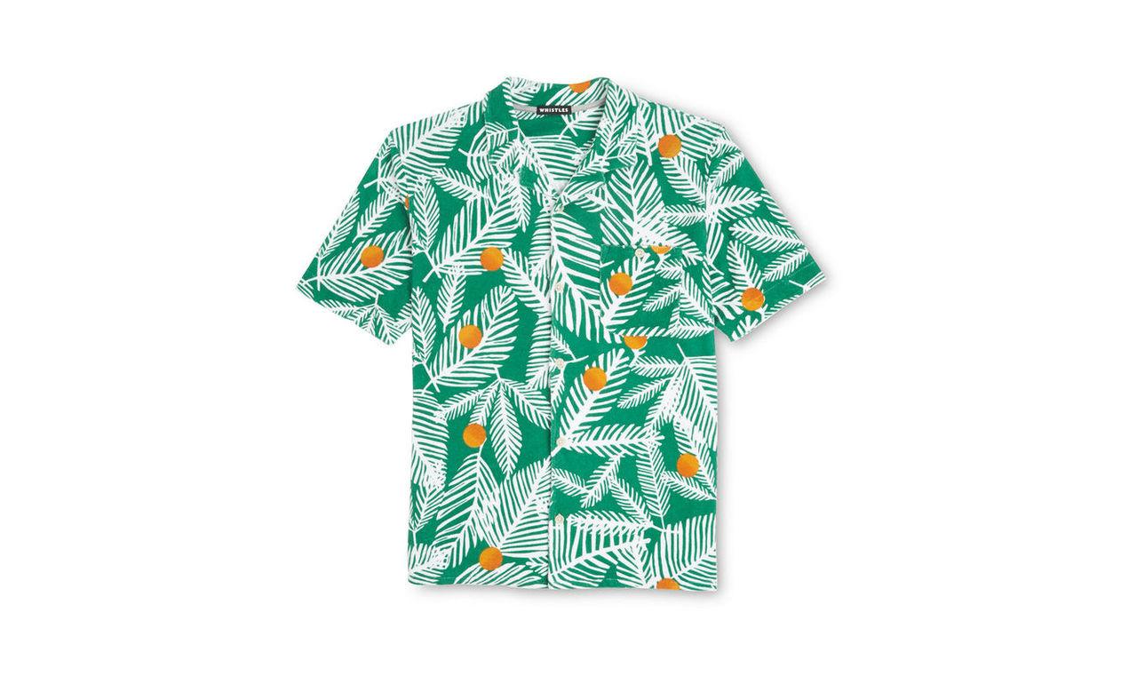 Palm Dot Textured Shirt