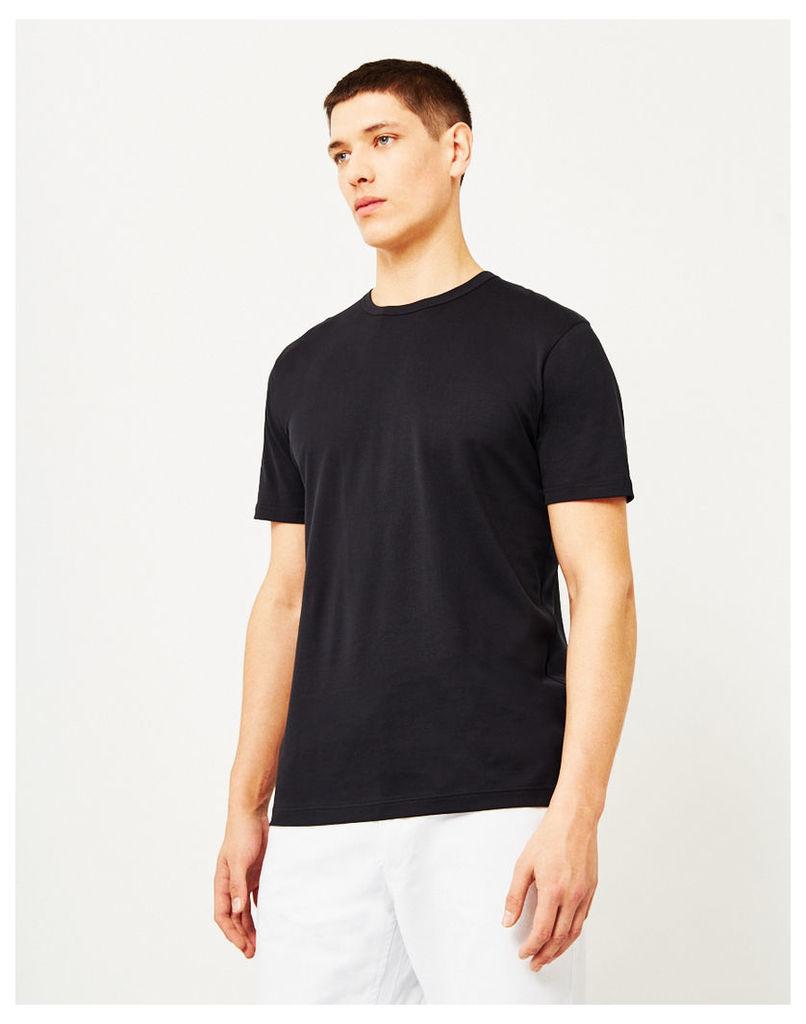 Sunspel Q82 Short Sleeve T-Shirt Black