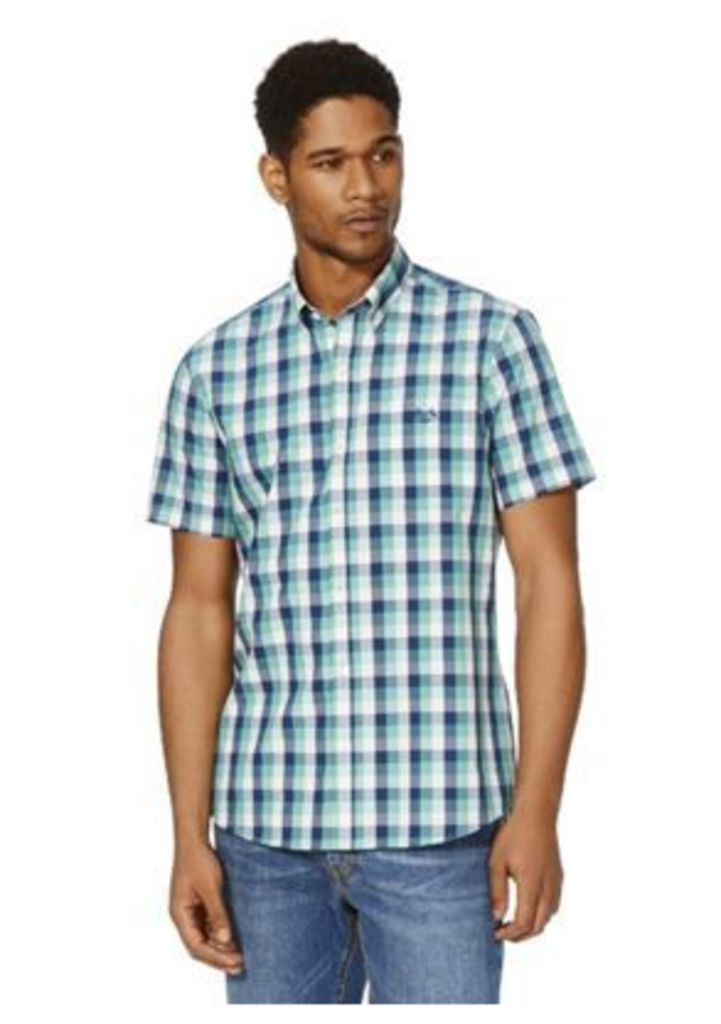 F&F Checked Short Sleeve Shirt, Men's, Size: Large