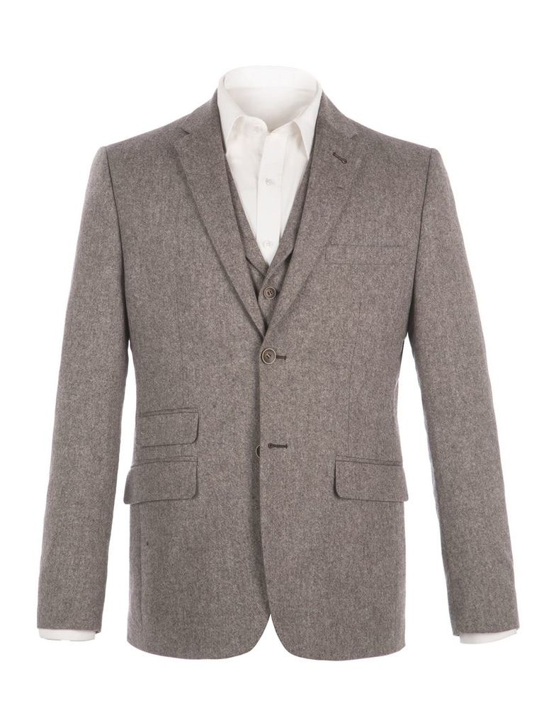 Men's Racing Green Lindean Taupe Speckle Jacket, Taupe