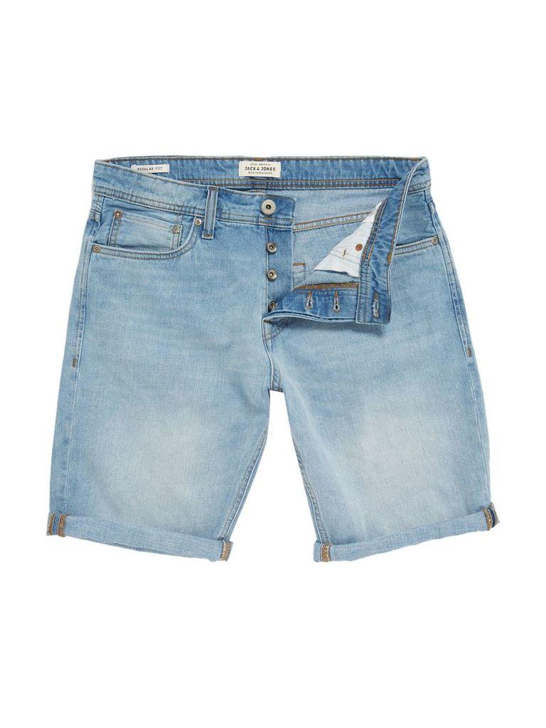Men's Jack & Jones Rick Originals Regular Fit Shorts, Light Rinse