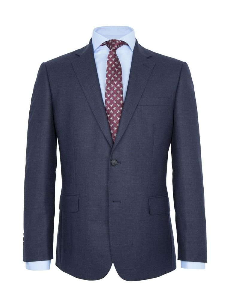 Men's Paul Costelloe Monmouth Check Wool Two Piece Suit, Blue