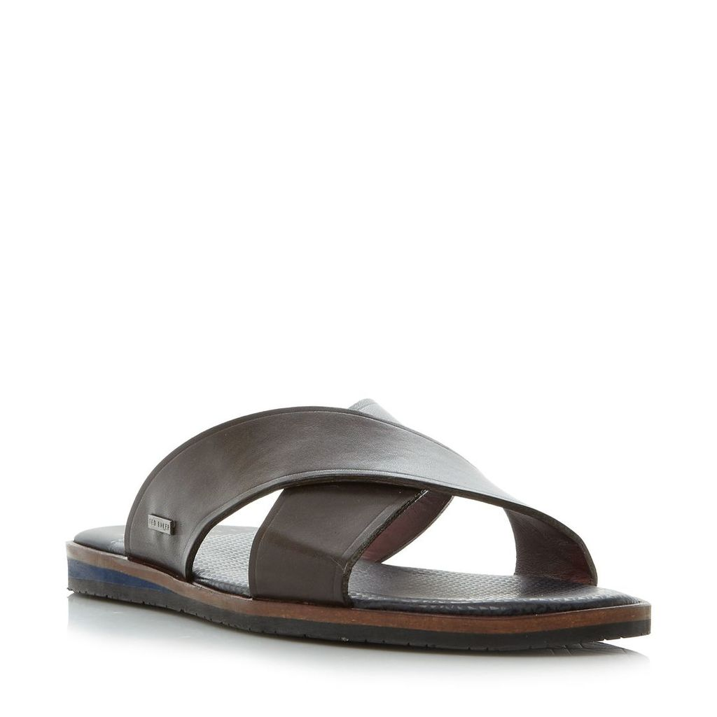 Ted Baker Punxel double cross strap sandals, Brown