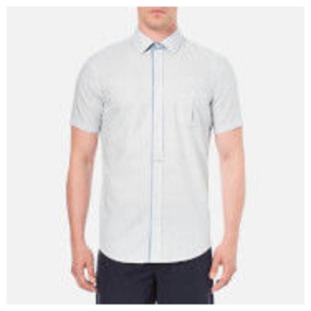 BOSS Orange Men's Eslimye Short Sleeve Shirt - Navy - S