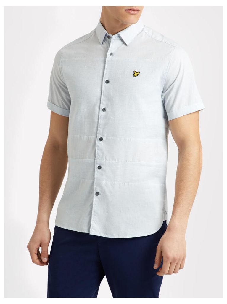 Lyle & Scott Short Sleeve Textured Stripe Shirt