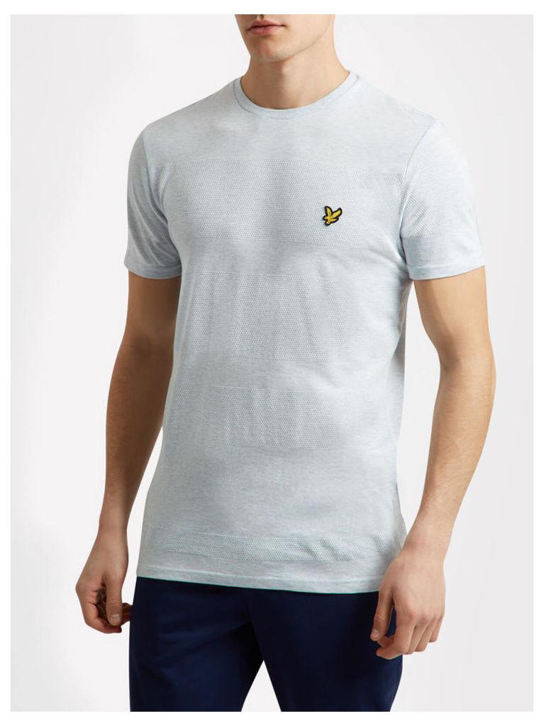 Lyle & Scott Textured Stripe T- Shirt
