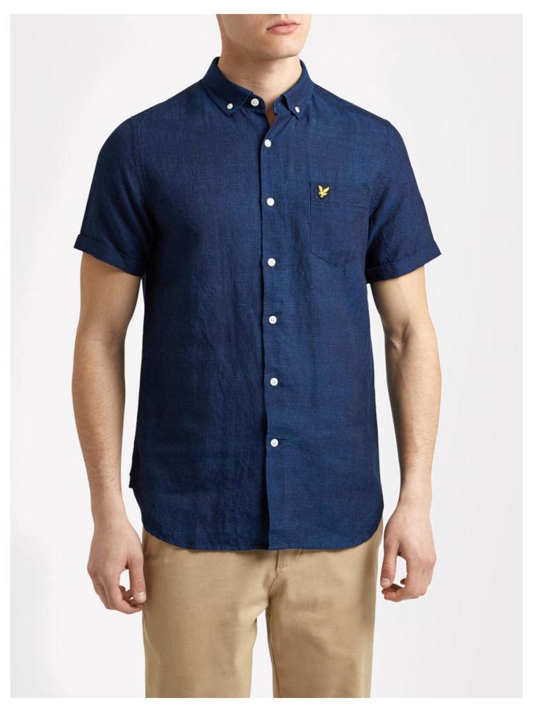 Lyle & Scott Linen Indigo Shirt