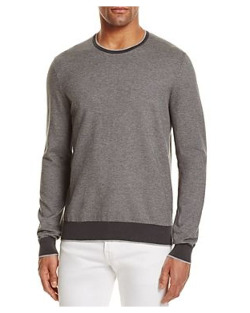 The Men's Store at Bloomingdale's Cotton Birdseye Tonal Trim Sweater - 100% Exclusive