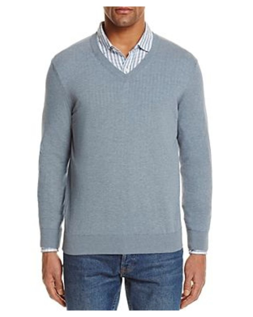 The Men's Store at Bloomingdale's Cotton V-Neck Sweater - 100% Exclusive
