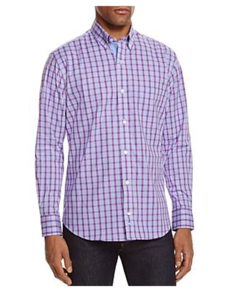 TailorByrd Cranberry Check Classic Fit Button-Down Shirt