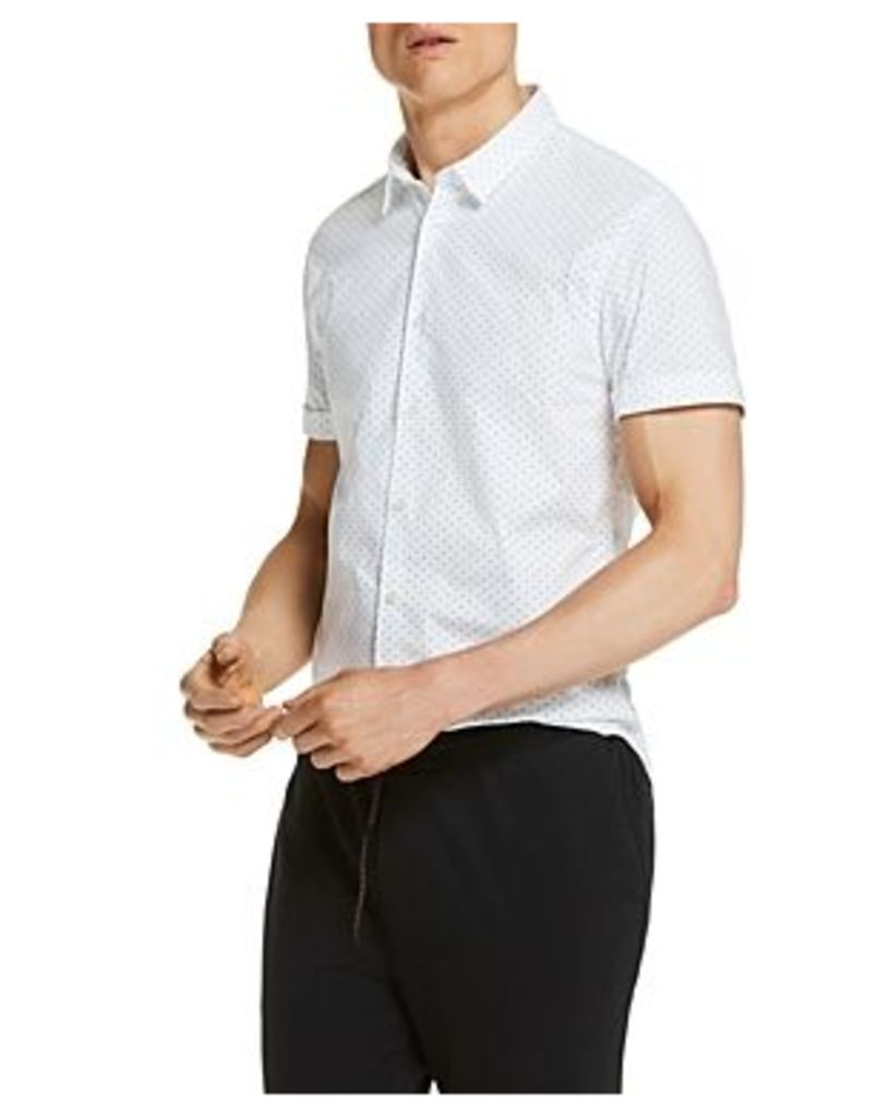 Scotch & Soda Dotted Slim Fit Button-Down Shirt