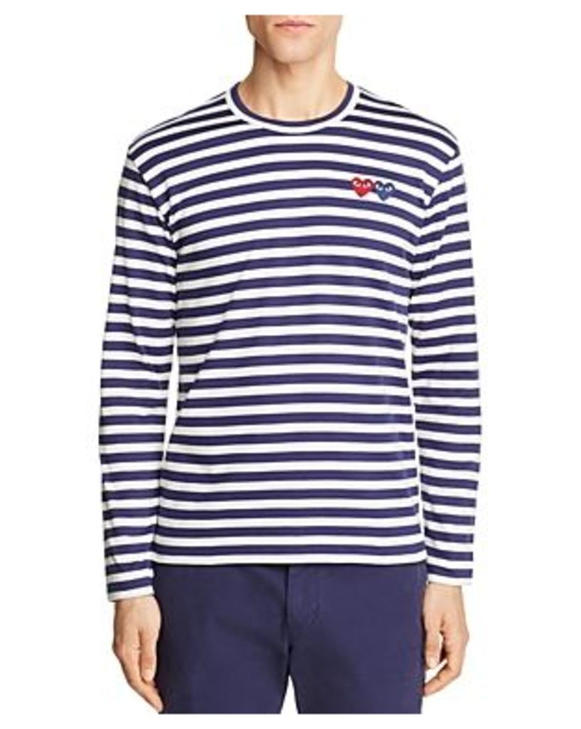 Comme Des Garcons Play Double-Heart Long Sleeve Tee