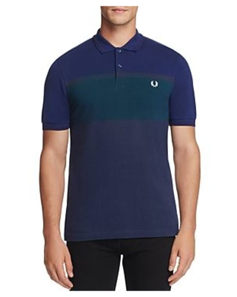 Fred Perry Color Block Stripe Slim Fit Polo Shirt