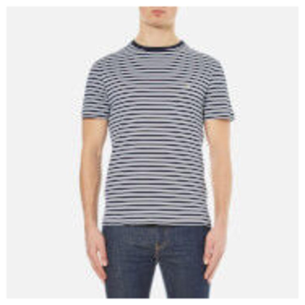 Lacoste Men's Striped T-Shirt - Navy - 4/M