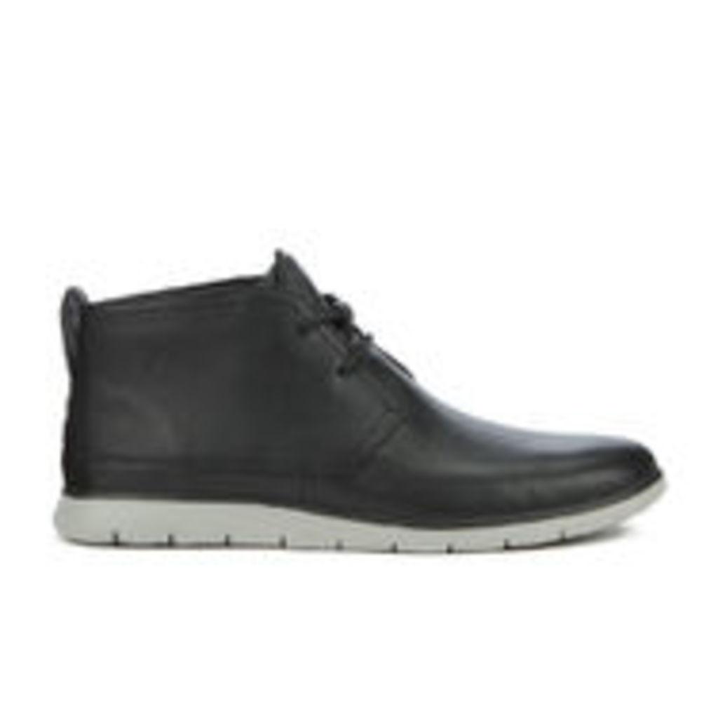 UGG Men's Freamon Grain Leather Desert Boots - Black - UK 10