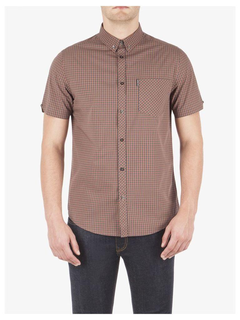Mini Mod Check Short Sleeve Shirt Lge Stone