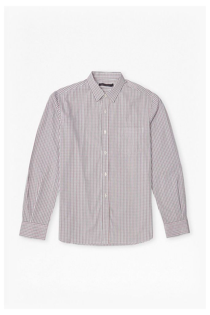 Checked Cotton Shirt - pink/blue/white