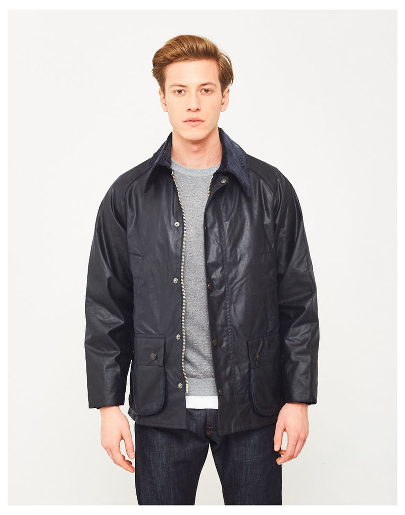 Barbour Waxed Bedale Jacket Navy