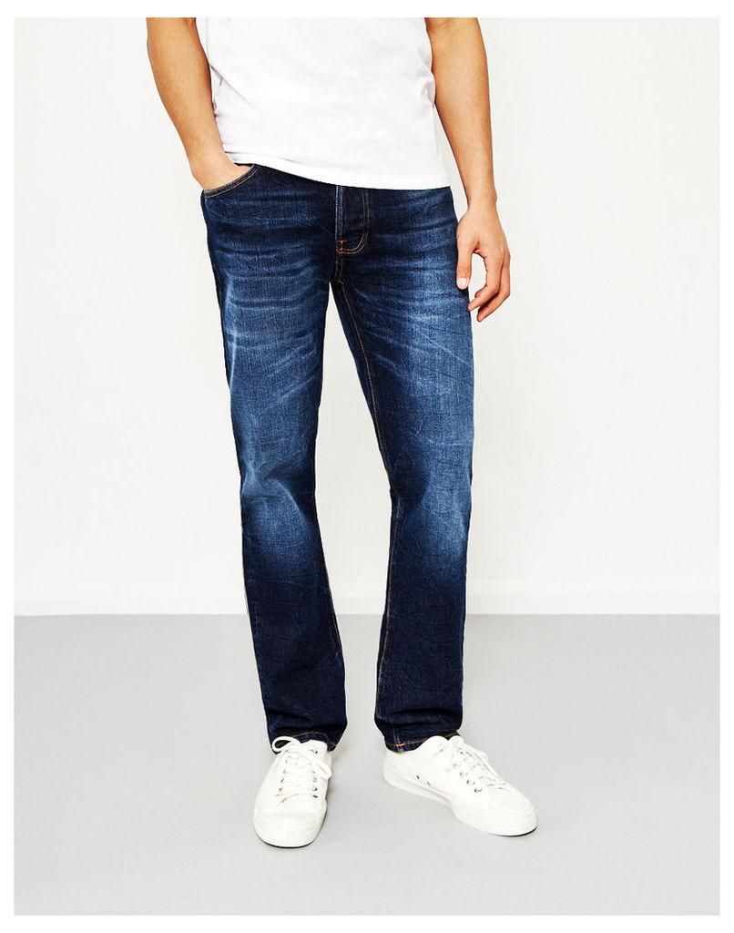 Nudie Jeans Co Dude Dan Dark Fuzz Blue Jeans