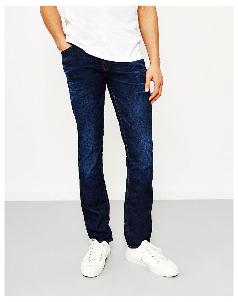 Nudie Jeans Co Grim Tim Crispy Secrets Blue Jeans