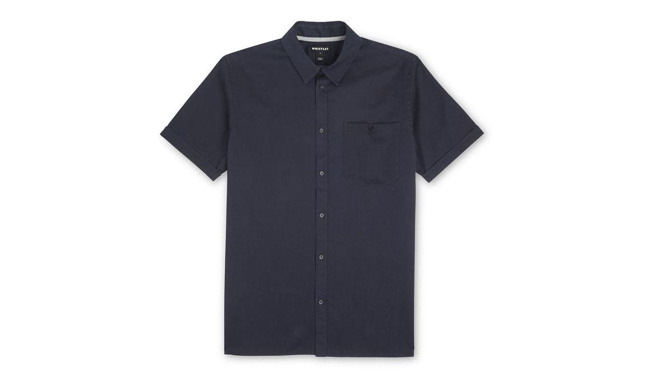 Short Sleeved Twill Shirt