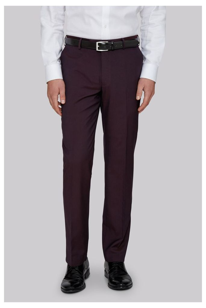 Moss 1851 Tailored Fit Burgundy Trousers