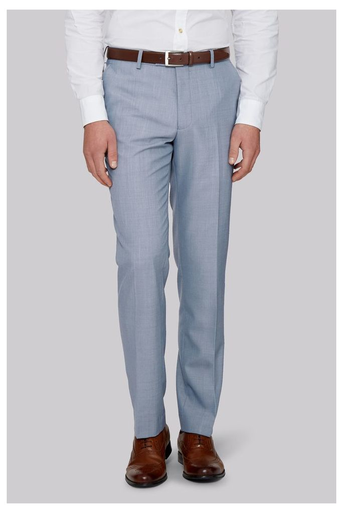Moss 1851 Tailored Fit Ice Blue Trousers