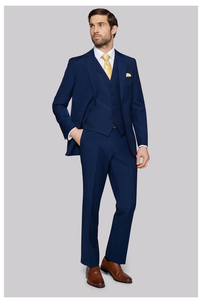 Moss Esq. Regular Fit Bright Blue Jacket