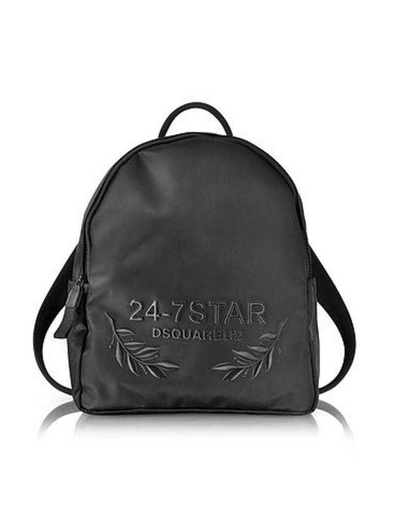 DSquared2 - 24-7 Star Icon Black Nylon Backpack