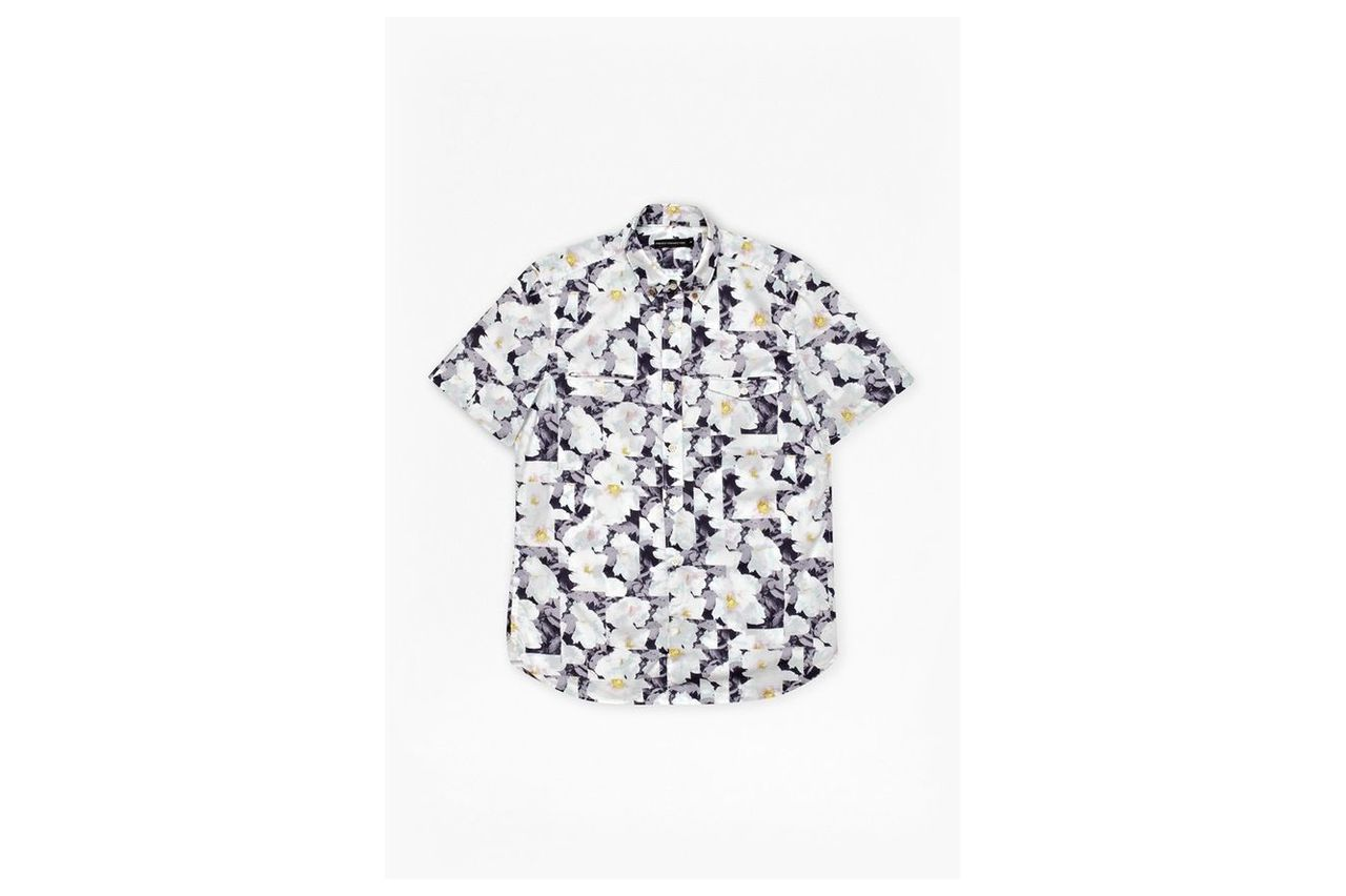 Vienot Rose Print Shirt - blueblood