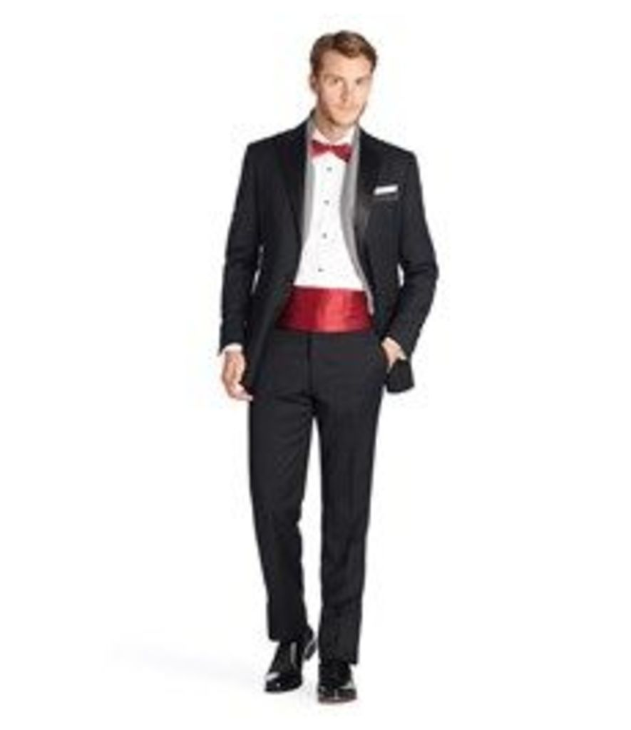 Men's Luxury Black Tailored Fit Dinner Suit Jacket - 1913 Collection