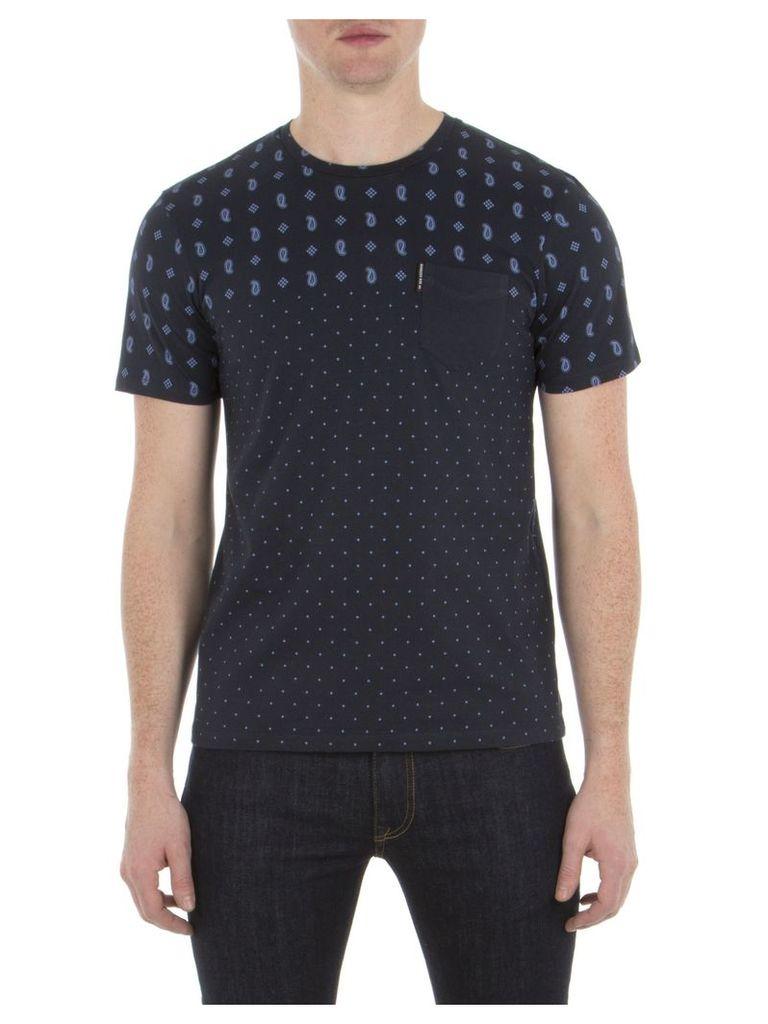 Pattern Mix T-Shirt 4XL EF5 Staples Navy