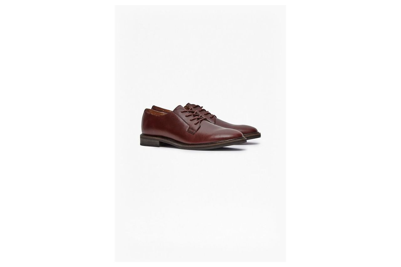 Cameron Leather Formal Shoes - burgundy