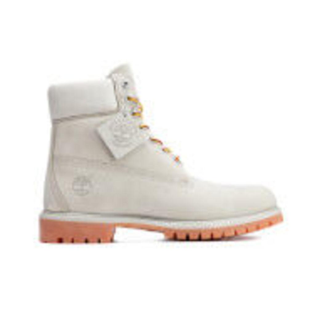 Timberland Men's 6 Inch Premium Lace Up Boots - Flint Grey - UK 11