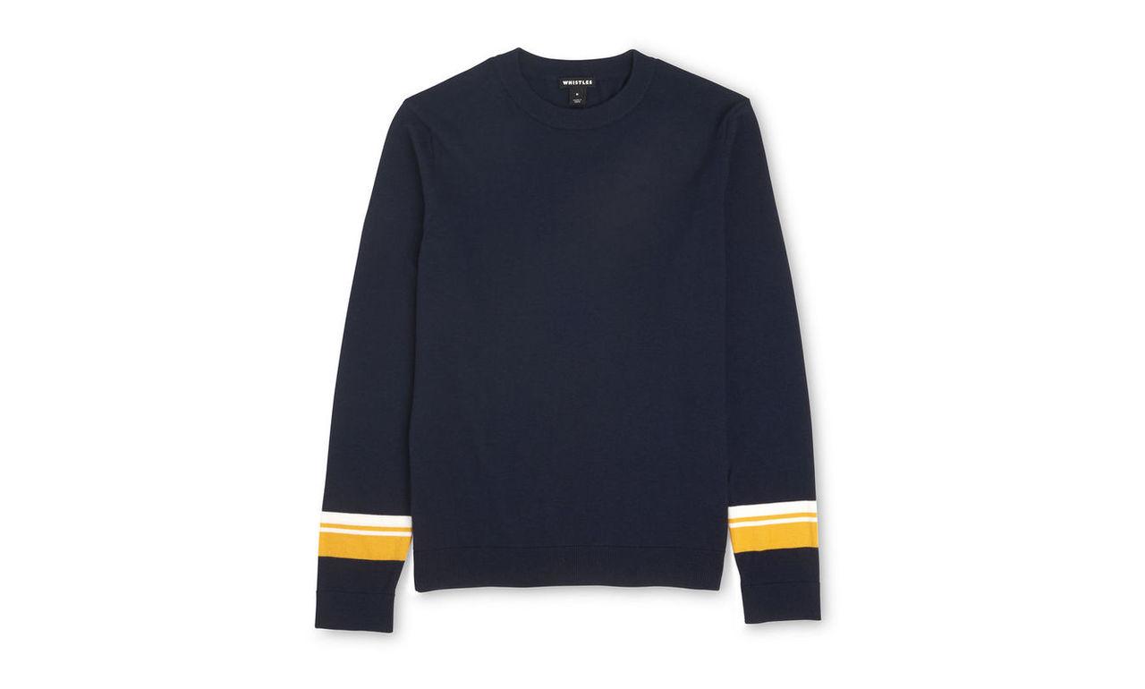 Striped Cuff Sweater