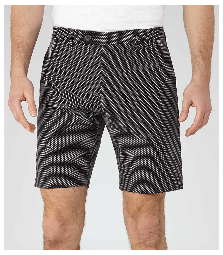 REISS State - Jacquard Weave Shorts in Blue, Mens