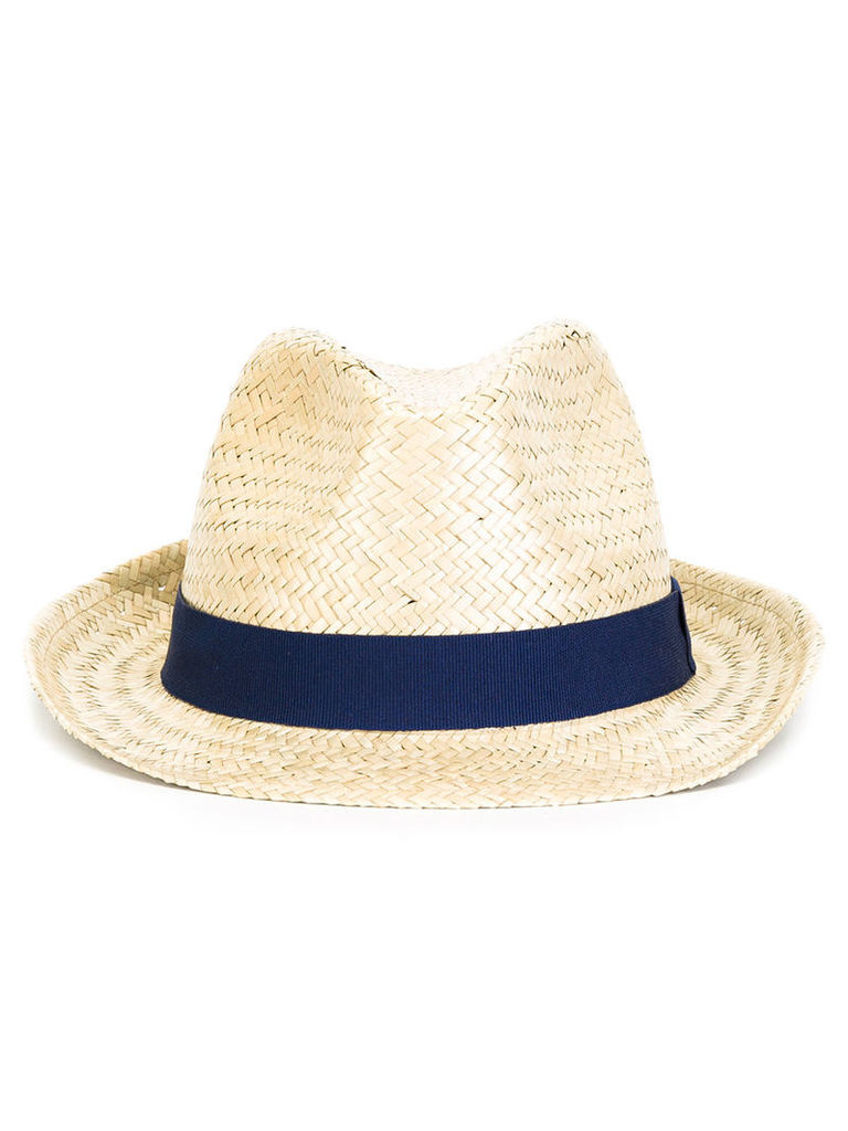 Hackett - straw trilby hat - men - Cotton/Straw - M, Nude/Neutrals