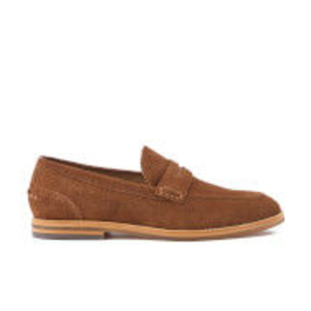 H Shoes by Hudson Men's Romney Suede Loafers - Cognac - UK 9