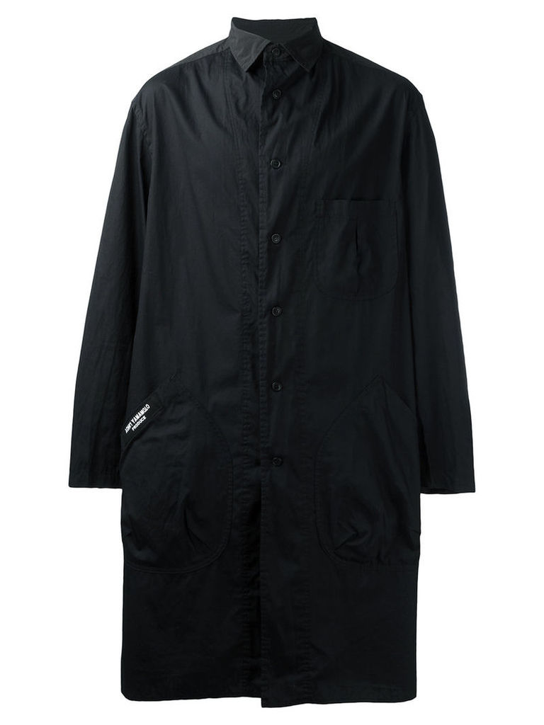 Yohji Yamamoto - shirt coat - men - Cotton - 1, Black