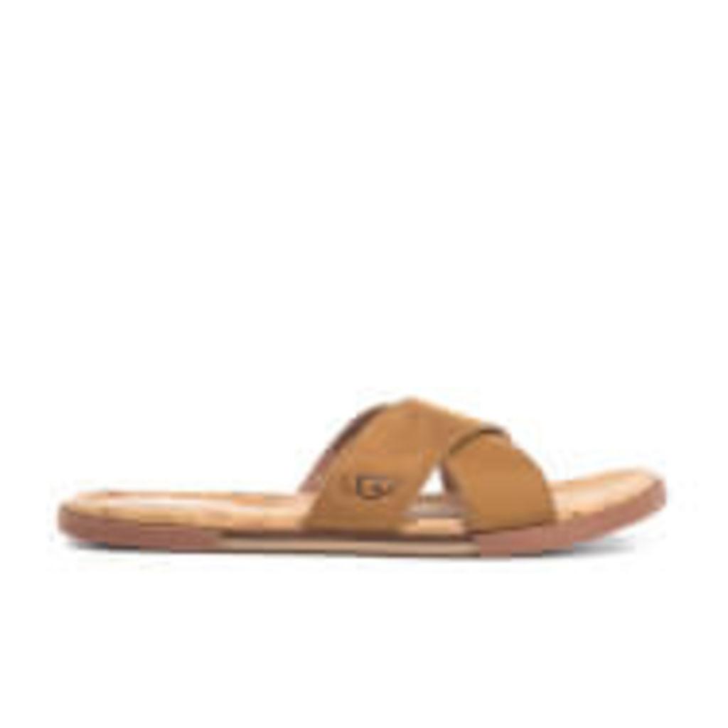 UGG Men's Ithan Cork Double Strap Leather Slide Sandals - Tamarind