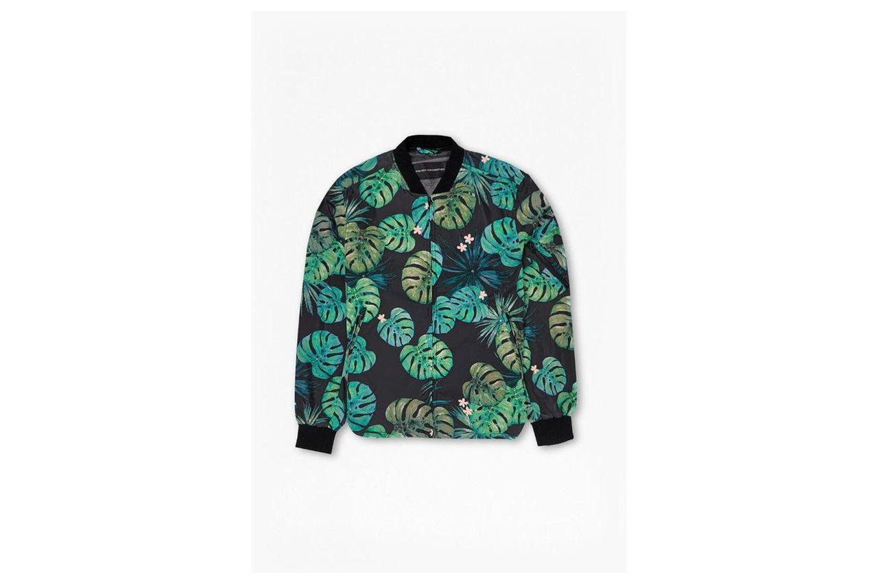 Sundowner Jacket - cabana leaf print