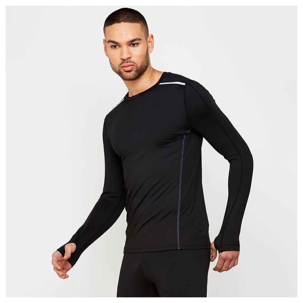 Long Sleeve Running Top - Black