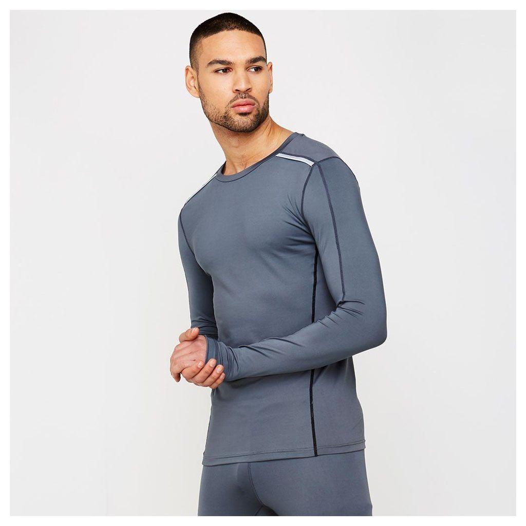 Long Sleeve Running Top - Shark Grey