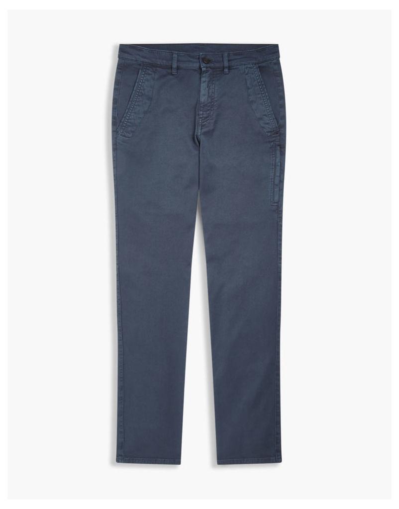 Belstaff Elgar Slim Fit Trousers Navy Blue