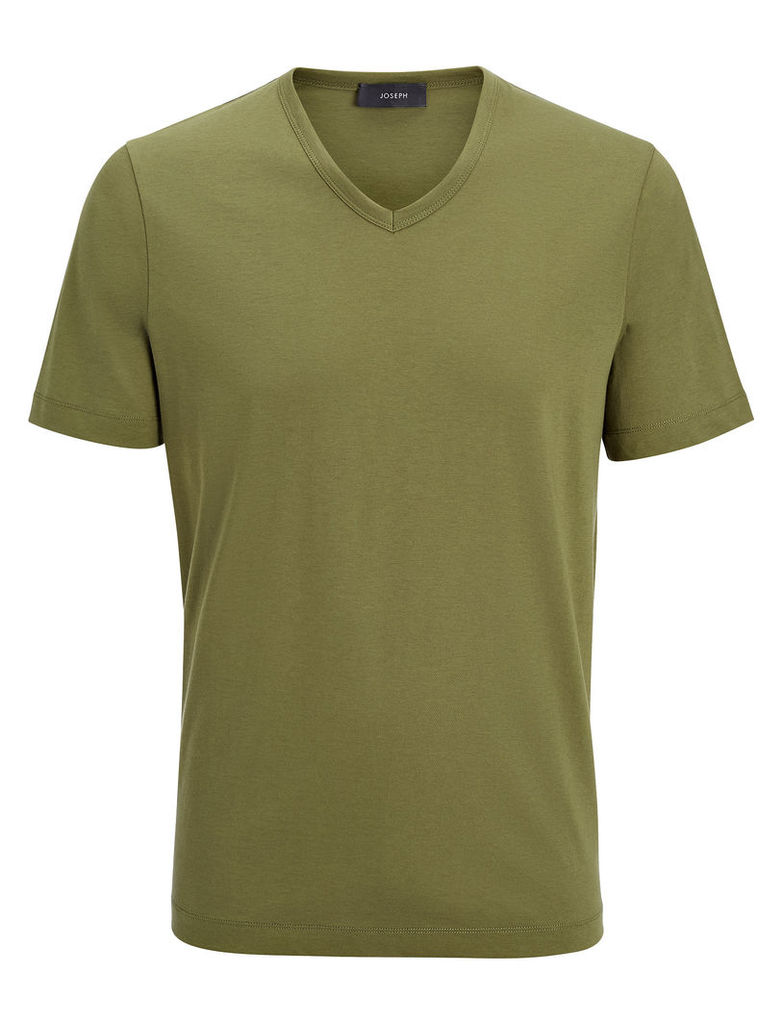 Mercerized Jersey V Neck Tee
