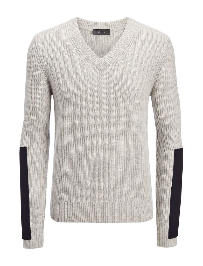 Military Cashmere V Neck Sweater